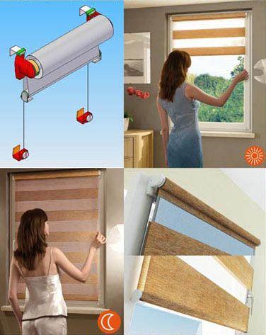 Как сделать шторы день ночь своими руками 85