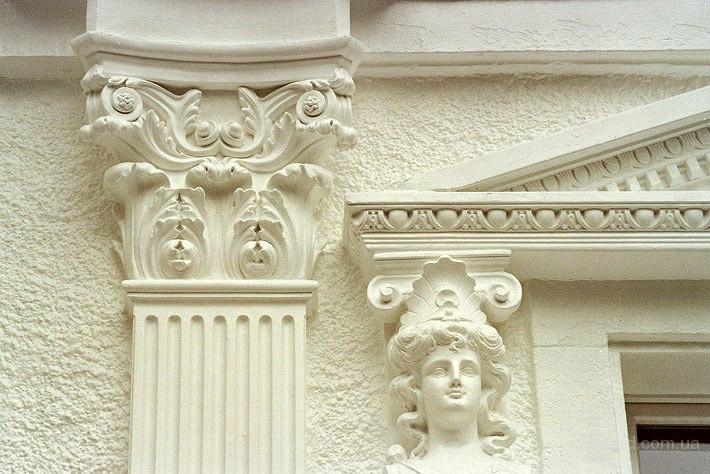 Гипсовая лепнина для фасада