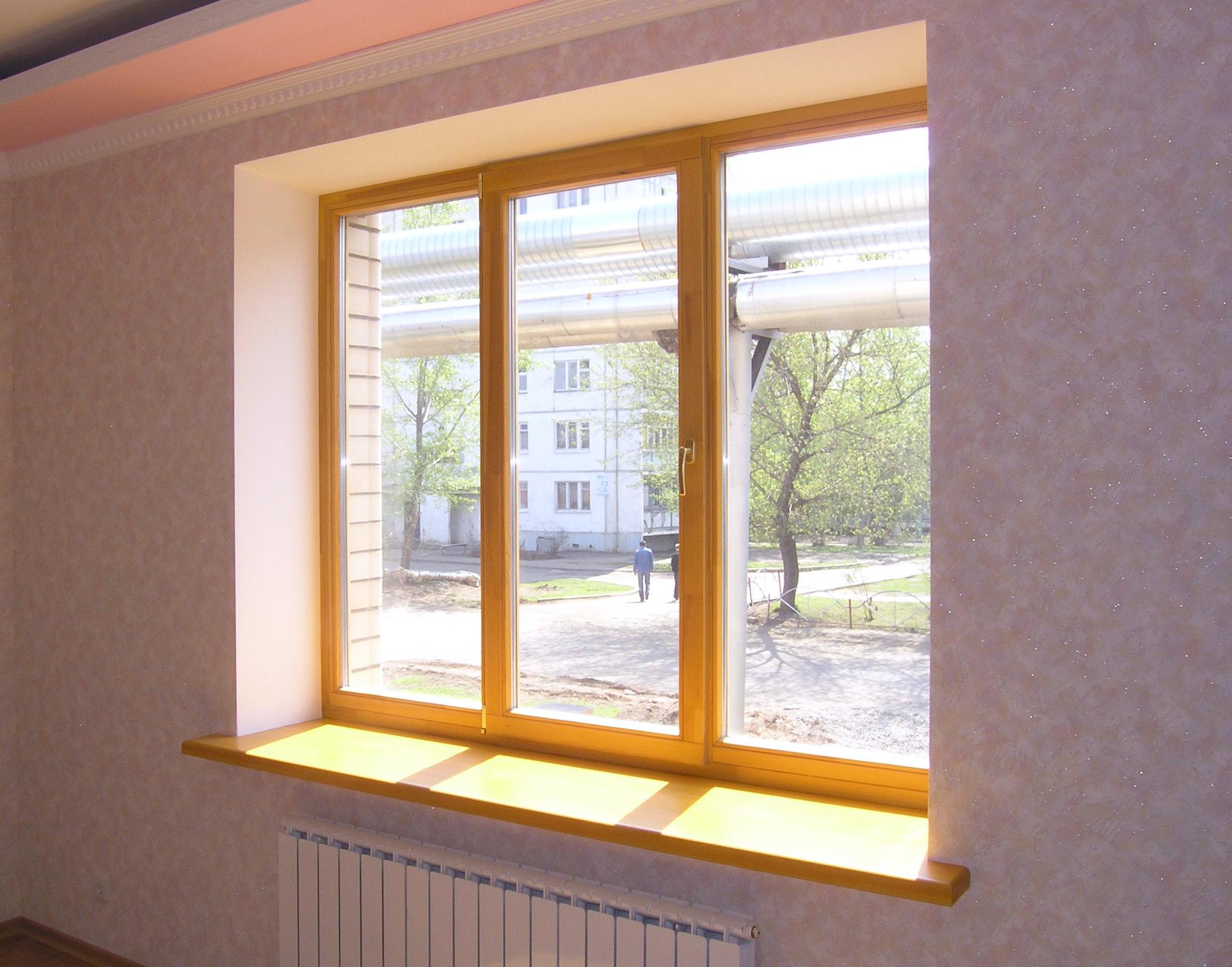 Подоконники деревянные - лучшее решение к деревянным окнам