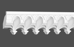 Карниз с орнаментом гибкий Европласт 1.50.501